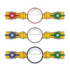 """Комплект водосчетчиков 3/4"""" hot water Giacomini GE550 GE550Y014"""