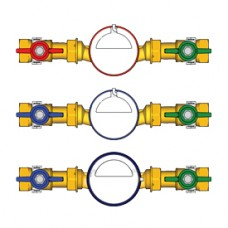 Комплект водосчетчиков 1 hot water Giacomini GE550 GE550Y104