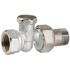 """Прямой отсечной клапан для радиатора отопления 3/8"""" Giacomini R17D2 R17DX002"""