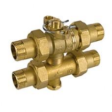 """Трехходовой зональный кран с накидными отводами 3/4"""" Giacomini R278 R278Y004"""