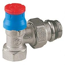 """Угловой термостатический клапан для радиатора отопления 3/8"""" ** Giacomini R401TG R401X132"""
