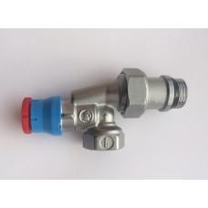 """Угловой  осевой термостатический клапан для радиатора отопления 1/2""""x1/2""""F ** Giacomini R415TG R415X033"""