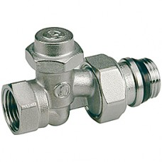 """Прямой отсечной клапан для радиатора отопления со сливом 1/2"""" Giacomini R715TG R715X033"""