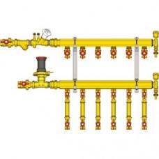 """Узел коллекторный отопления этажный, подключение тип B2 1"""" x 3/4"""" / 3 GE553-B2 Giacomini GE553Y133"""