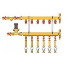 """Узел коллекторный отопления этажный, подключение тип B3 (D2) 1"""" x 3/4"""" / 3 GE553-B3(D2) Giacomini GE553Y453"""