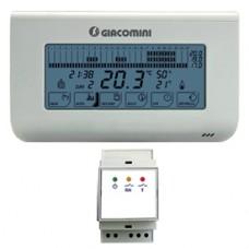 Цифровой электронный хронотермостат с контролем влажности 2 батареи AA 1,5 V + 230 В Giacomini K492 K492DY001