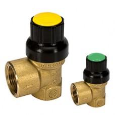 """Предохранительный клапан для солнечных систем 1/2"""" x 3/4"""" 6 бар Giacomini R140C R140CY009"""