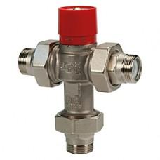 """Термостатический смесительный клапан с отводами 3/4""""M x 3/4""""M x 3/4""""M Giacomini R156-1 R156X024"""