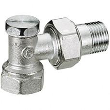 """Угловой отсечной клапан для радиатора отопления 3/8"""" Giacomini R16D2 R16DX002"""