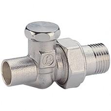 """Прямой отсечной клапан для радиатора отопления под пайку 1/2""""x15 Giacomini R17C2 R17CX003"""
