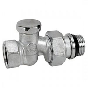 """Прямой отсечной клапан для радиатора отопления 3/8"""" Giacomini R17TG R17X032"""