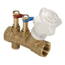 """Ручной балансировочный клапан (со штуцерами) для систем отопления 3/4"""" Giacomini R206B R206BY004"""