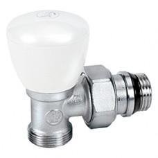 """Угловой ручной клапан для радиатора отопления с нар. резьбой 3/8""""x16 Giacomini R25TG R25X032"""
