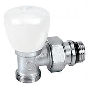 Угловой ручной клапан для радиатора отопления с нар. резьбой 3/4x18 * Giacomini R25TG R25X035