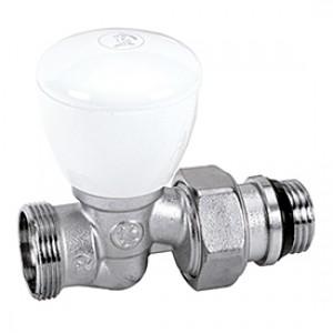 Прямой ручной клапан для радиатора отопления с нар. резьбой 3/4x18 * Giacomini R27TG R27X035
