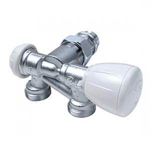 """Микрометрический термостатический узел для двухтрубных систем правый 1/2"""" x18 Giacomini R357B1 R357BX062"""