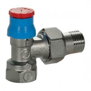 """Угловой термостатический клапан для радиатора отопления с увеличенным проходом. Увеличенный проход для размера 3/4"""". 1/2"""" Giacomini R401D R401DX003"""