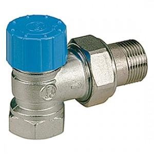 """Угловой термостатический клапан для радиатора отопления с резьб. подсоединением термоголовки 1/2"""" Giacomini R401H R401HX003"""