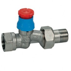 """Прямой термостатический клапан для радиатора отопления с увеличенным проходом.  1/2"""" Giacomini R402D R402DX003"""