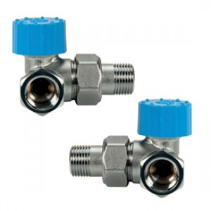 """Угловой термостатический клапан для радиатора отопления 2-плоскостной левый 1/2"""" - лев. Giacomini R403H R403HX023"""