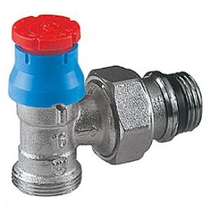 """Угловой термостатический клапан для радиатора отопления с нар. резьбой 3/8""""x16 Giacomini R411TG R411X032"""