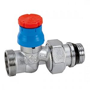 """Прямой термостатический клапан для радиатора отопления с нар. резьбой 3/8""""x16 Giacomini R412TG R412X032"""