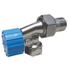 """Угловой  осевой термостатический клапан для радиатора отопления с резьб. подсоединением термоголовки 1/2"""" Giacomini R415H R415HX003"""