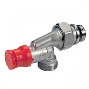 Термостатический угловой осевой клапан для радиатора отопления с преднастройкой 1/2 x16 Giacomini R415PTG R415PX042