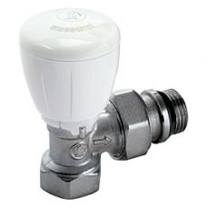 """Угловой микрометрический термостатический клапан для радиатора отопления 3/8"""" ** Giacomini R421TG R421X132"""
