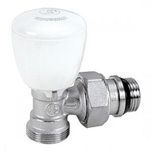 """Угловой микрометрический термостатический клапан для радиатора отопления с нар. резьбой 1/2"""" x3/4""""E Giacomini R431TG R431EX037"""