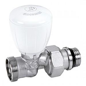 """Прямой микрометрический термостатический клапан для радиатора отопления с нар. резьбой 1/2"""" x3/4""""E Giacomini R432TG R432EX037"""