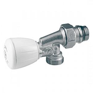 Угловой осевой микрометрический термостатический клапан для радиатора отопления 1/2x1/2F ** Giacomini R435TG R435X033