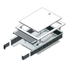 Шкаф коллекторный  400X650X85-130 Giacomini R500-2 R500Y221