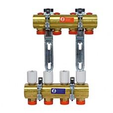 """Сборный коллектор для систем водяного радиаторного отопления и теплого пола 1x3/4""""E/6 Giacomini R553D R553EY006"""