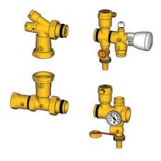 Комплект арматуры для коллекторов теплого пола для эл. насоса GIACOMINI R557KY002 GIACOMINI