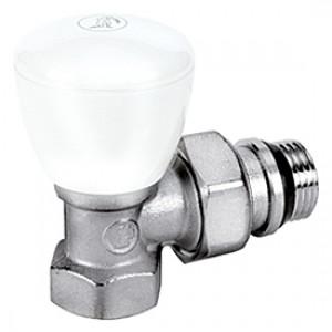 """Угловой ручной клапан для радиатора отопления 3/8"""" Giacomini R5TG R5X032"""
