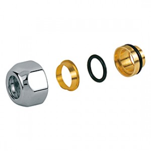 Переходник глянцевый для металлической трубы 16 x 15 GIACOMINI T178C T178CX016