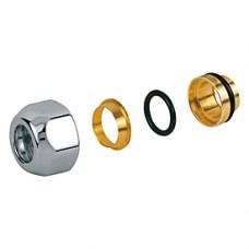 Переходник глянцевый для металлической трубы 16x16 Giacomini T178C T178CX018