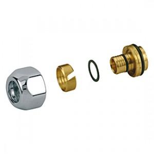 Переходник глянцевый для полимерной трубы 16 x (16 x 2,2) GIACOMINI T179M T179MX010